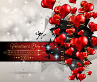 Valentines Day background for dinner invitations Royalty Free Stock Photos