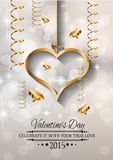 Valentines Day background for dinner invitations Royalty Free Stock Photo