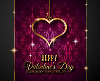 Valentines Day background for dinner invitations Stock Image