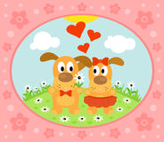 Valentines day  background with dog Royalty Free Stock Photos