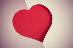Valentines day background with empty paper cut heart Stock Image