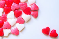 Valentines Day background with Fabric valentine heart on grunge Royalty Free Stock Photos