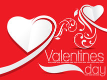 Valentines Day  background with floral Stock Images