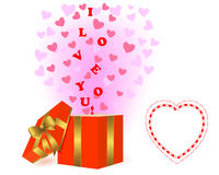 Valentines day background with a gift. Stock Photography