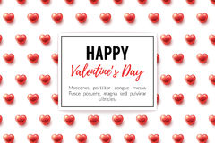 Valentines Day Background with glossy hearts. And frame. Vector illustration for gift cards, wallpaper, flyers, invitation, posters, brochure, website banners Stock Image