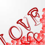 Valentines day background with hear Royalty Free Stock Photos