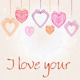 Valentines Day background with Heard Royalty Free Stock Images