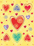Valentines day background with heart Royalty Free Stock Photography