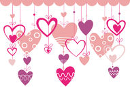 Valentines day background with heart Royalty Free Stock Photo