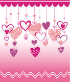 VALENTINES DAY BACKGROUND WITH HEART Royalty Free Stock Images