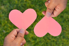Valentines Day background. Heart on Valentines Day background Stock Images