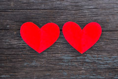Valentines Day background. Heart on Valentines Day background Stock Photos