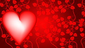 Valentines day background with heart Stock Images