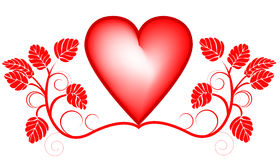 Valentines day background with heart Stock Photography
