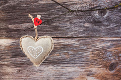 Valentines day background with heart. Copy space, soft focus, toned Royalty Free Stock Images