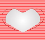 Valentines Day background with heart frame Royalty Free Stock Photo