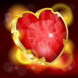 Valentines Day background with heart Stock Image