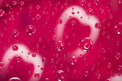 Valentines day background. Heart reflected in the droplets of wa Stock Photography