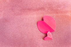Valentines Day background with heart and roses. Vintage style stock photography