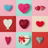 Valentines day background. With heart shape. View from above. Flat lay Royalty Free Stock Photography