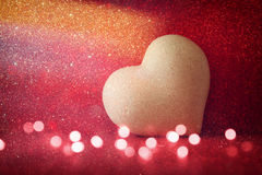 Valentines day background. Heart on shiny background Stock Images