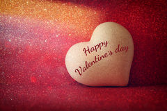 Valentines day background. Heart on shiny background Royalty Free Stock Photo