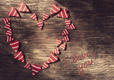 Valentines Day background with heart. Stock Images