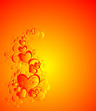 Valentines day background with heart, vector stock photos