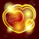Valentines Day background with heart Royalty Free Stock Photos
