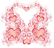 Valentines Day background with Hearts Royalty Free Stock Image