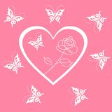 Valentines Day background with Hearts Royalty Free Stock Photography