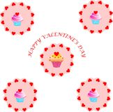 Valentines Day background with Hearts Stock Photos