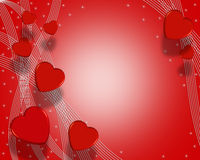 Valentines Day Background Hearts 3D royalty free stock image