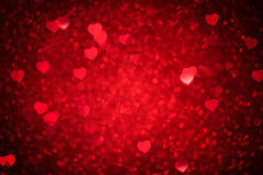 Valentines day background. With hearts Royalty Free Stock Photo