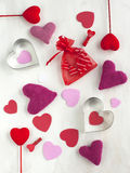 Valentines Day background with hearts Stock Images