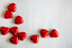 Valentines Day background with hearts. Valentines Day background with hearts with copyspace Stock Photography
