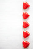 Valentines Day background with hearts. Stock Images