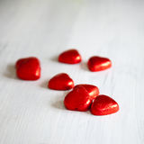 Valentines Day background with hearts. Stock Image