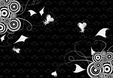 Valentines Day background with hearts and florals Stock Image