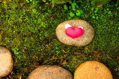 Valentines day background with hearts Stock Photography