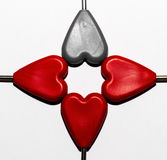 Valentines Day background with hearts. Isolated Stock Photo