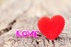 Valentines Day background with hearts Stock Image