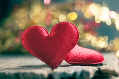 Valentines Day background with hearts. Stock Photography