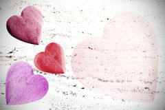 Valentines Day background, hearts with space for text Royalty Free Stock Photography