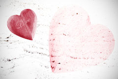 Valentines Day background, hearts with space for text Royalty Free Stock Photos
