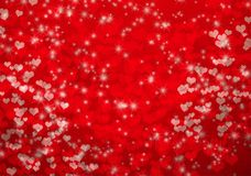 Valentines Day background with hearts and stars Royalty Free Stock Photos