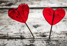 Valentines Day background with hearts. Royalty Free Stock Photography