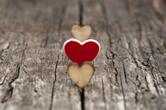 Valentines Day background with hearts. Royalty Free Stock Photo