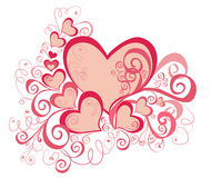 Valentines Day background with Hearts. Vector stock illustration