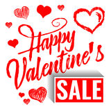 Valentines day background Hearts Stock Image